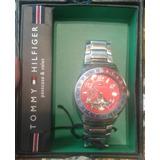 Reloj Tommy Hilfiger Automatico 45 Mm Malla Acero Funciona