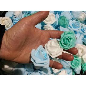 72 Mini Rosas Eva Artesanato Médias Artificiais Florzinhas