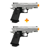 2 Pistola De Airsoft Spring G10s Modelo 1911 Baby Full Metal