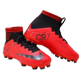 Chuteira Cristiano Ronaldo Vermelha Campo - Chuteiras para Campo no ... f2f4bf4273f6a