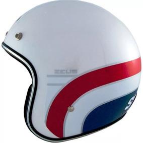 Capacete Zeus 380h Stronger K63 Branco Vermelho Aberto