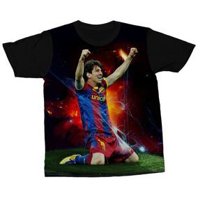 026593a546 Kit Com 3 Camisetas Lionel Messi Futebol Jogador Camisa