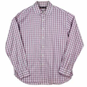 Camisa Michael Kors Plaid Lavender Para Hombre Talla Xl