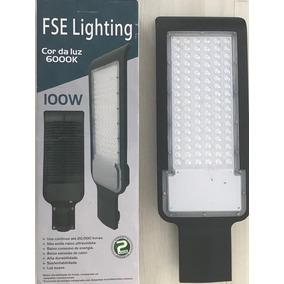 Luminaria Led 100w Iluminacao Publica Poste Prova D Agua