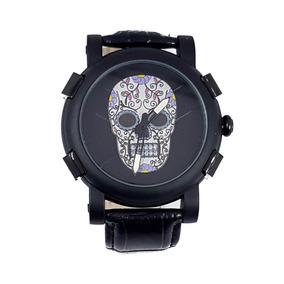 Reloj Caballero Calavera Catrin Cristales Blanco