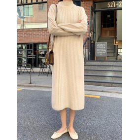 Vestido Largo Cuello Polo Tipo Nordsdtrom Moda Coreana 2019
