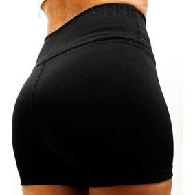 Shorts Fajita 10cm 100%lycra Tiro Alto Mujer Talles Xs - Xxl