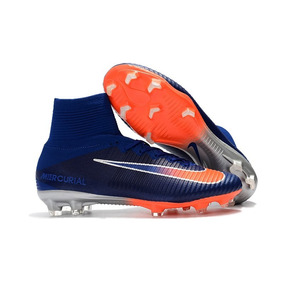 b68e472a48 Chuteira Nike Mercurial Superfly Infantil - Chuteiras Azul petróleo ...