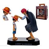 Figura Muñeco Diorama One Piece Shanks Y Luffy Promise