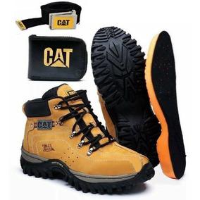 Coturno Bota Caterpillar Adventure Original Kit Cat Gratis