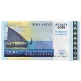 Billete Madagascar 2007-2012 5000 Ariary Conmemorativo Unc