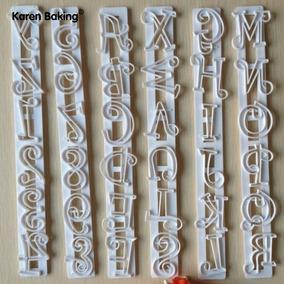 Cortador Letras Alfabeto Números - Pasta Americana Biscuit