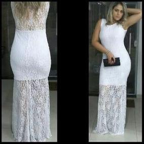 84a98fe313 Vestido Longo Renda Casamento Madrinha Estilo Sereia - Vestidos De ...
