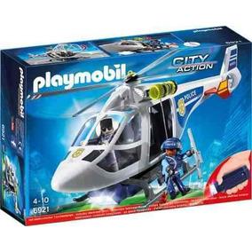 Helicoptero De Policia Con Luces Led Playmobil R3747