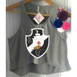 08b56c3719 Blusa Cropped Vasco Da Gama Feminina Regata Camiseta Futebol
