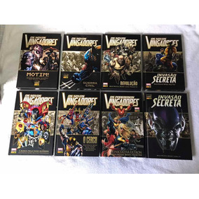 Coleção Marvel Deluxe Novos Vingadores - 8 Volumes