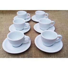 Jogo De 15 Xícara Com Pires Porcelana Branco Para Café Bv298