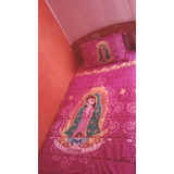 Kit Virgen De Guadalupe Colcha Y Cortinas