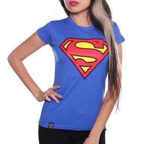 Playera Superman Logo Mujer Original Dc Comics