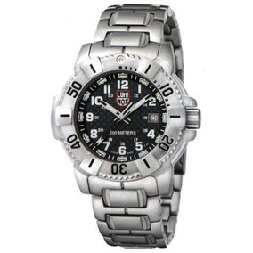 242f7a706a8 Luminox Navy Seal 6202 Black Carbon Dial - Aço Inoxidável