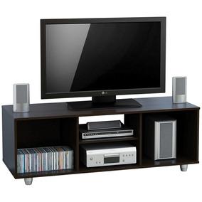 Rack De Tv Centro Estant Mt4000 Wengue Hasta Tv Led 55