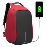 Mochila Antirrobo Porta Notebook Seguridad Usb Urbana Color