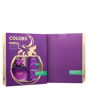 Conjunto Colors Purple Deo Benetton Feminino 2 Produtos Blz