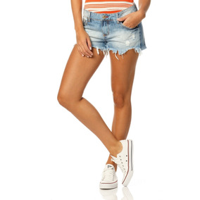 Shorts Feminino Soltinho Barra Desfiada Sobreposto-sp6139