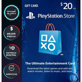 Ps4 Ps3 Tarjeta Playstation Psn 20 Dolares Codigo Mercadopag