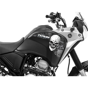 Adesivo Tanque Moto Yamaha Tenere 250 Caveira Grande 055