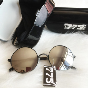 1d1b3000155e0 Óculos Preto 775 De Sol Espelhado Redondo Original!