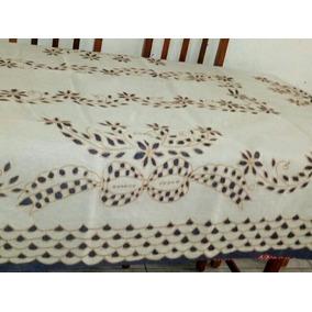 Toalha Mesa Rechilié 2,2 M 6 Cadeiras Bordados Do Ceará