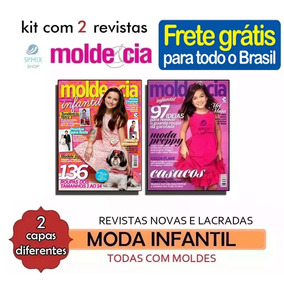 2 Revistas Moda Infantil Molde Costura Roupas Frete Grátis