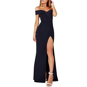 0497cddf5 Vestidos Largos Elegantes Con Short - Vestidos Azul marino en Baja ...