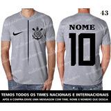 Camiseta Corinthians Timão Cinza Mescla Time Futebol 103 4eb264e8bde78