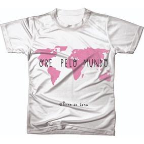 Camiseta Camisa Manga Curta Gospel Evangélica Igreja Ref 30 b9aa6c5fed6dc