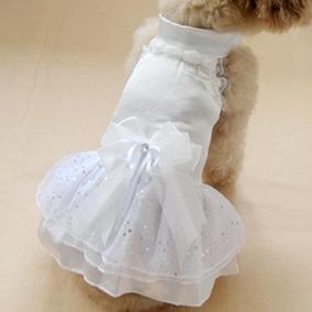 Vestido De Noiva Para Cachorra Ou Gata Importado Luxuoso