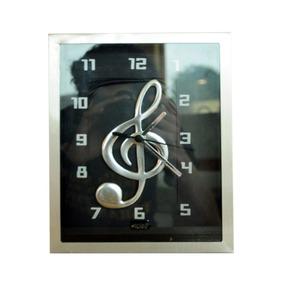 Relógio Mesa Caixa Inox Music