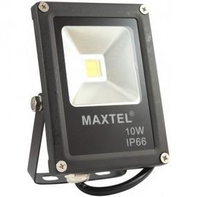 Kit C/ 2 Refletor Holofote De Led Maxtel 10w Branco Bivolt