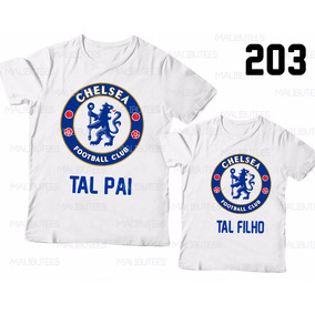 Chelsea Personalize Kids Juvenil Infantil Criança Futebol ... ef6a0c193c1cf