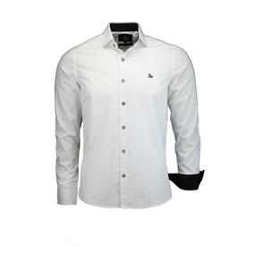 35d98edb4 Camisa Branca Trabalhada - Camisa Social Manga Longa Masculinas no ...