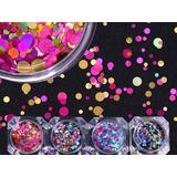 Confeti Metálico 12 Tonos Decoración Para Uñas Envio Gratis.