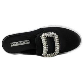 c3eb1667 Zapatos Tenis Karl Lagerfield Chanel Originales Satin Negro