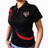 Camisa Polo Do São Paulo Baby Look Feminina Oficial