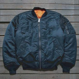 Campera Alpha Industries Ma1 Original Aviadora Azul Petroleo