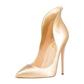 Zapatos Altos Dorados Fsj Nuevos #40 Nuevos.