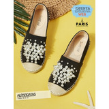 Alpargatas Con Perla Artificial - Zapatos #pariselegance