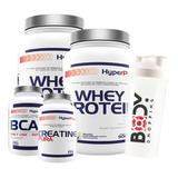 Kit 2x Whey Protein + Bcaa + Creatina - Hyperpure + Shaker