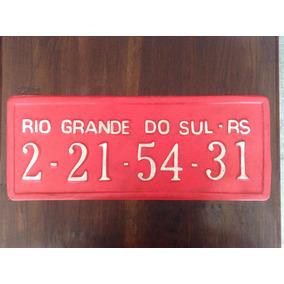 Antiga Placa De Plastico Do Rio Grande Do Sul !! Linda !!