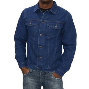 Jaqueta Jeans Masculina Tradicional Básica Azul P Ao Xg3 11f6c755aef